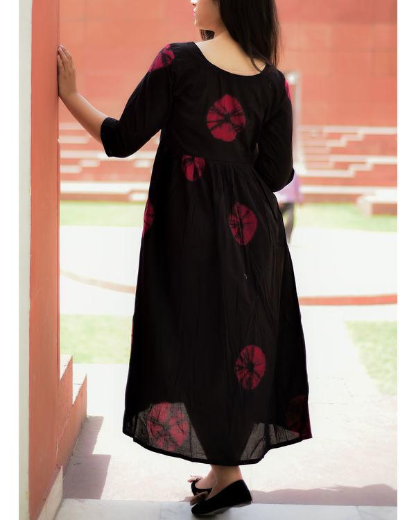 Marsala and black bandhini dress 2