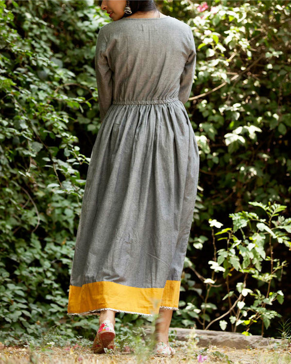 Ash grey summer dress 2