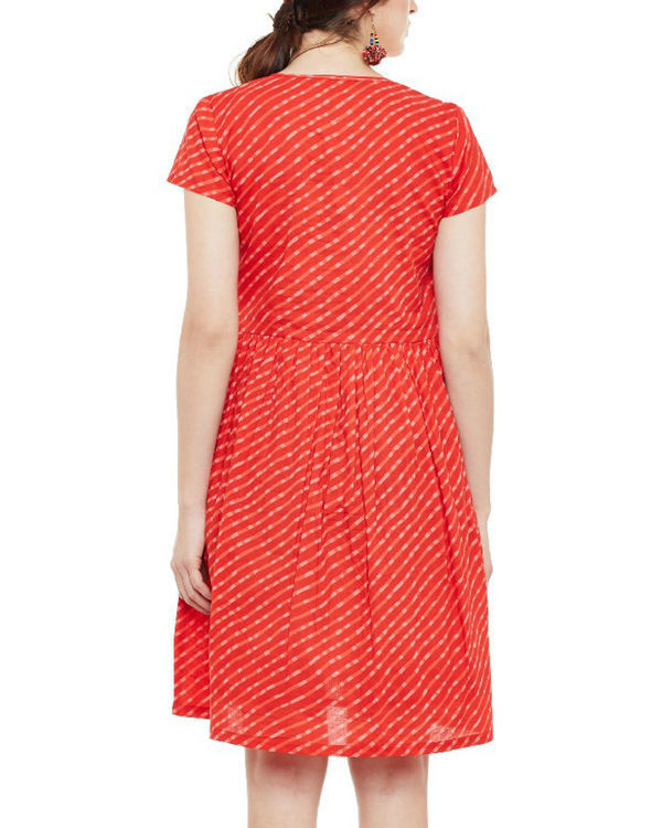 Red wave tasseled dress 2