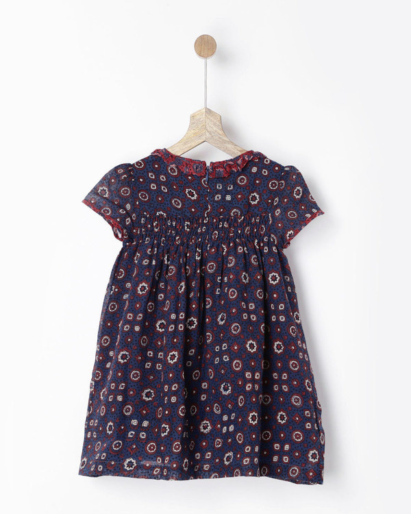 Indigo ajrakh hand printed dress 1
