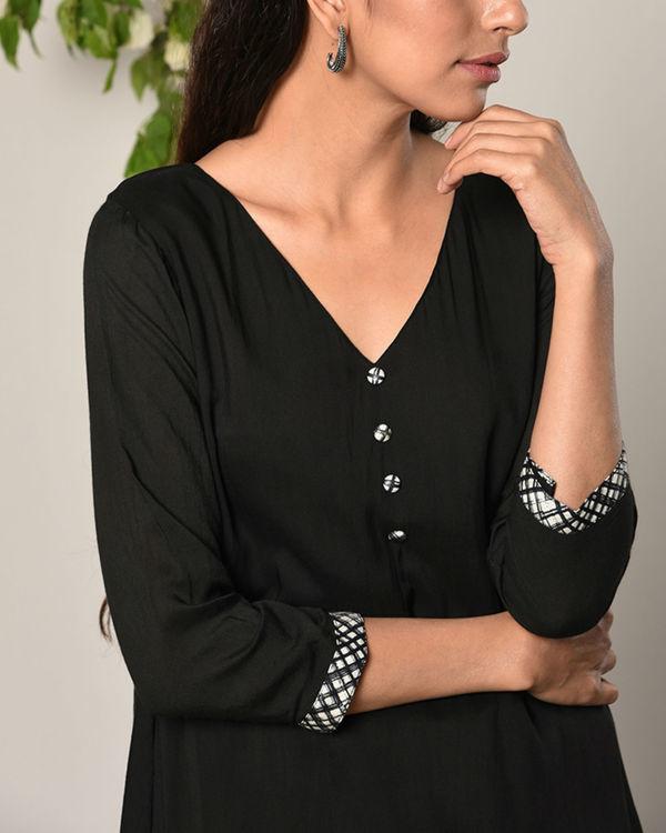 Black peek-a-boo button dress 2