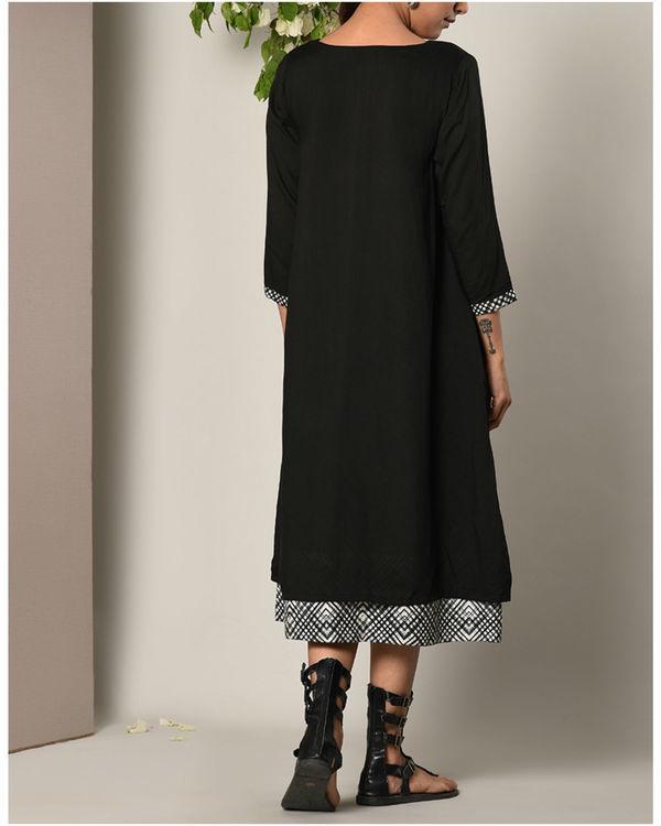 Black peek-a-boo button dress 3
