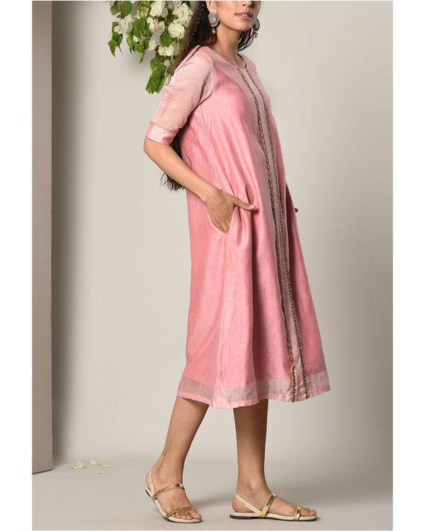 Mud pink jute center panel dress 1