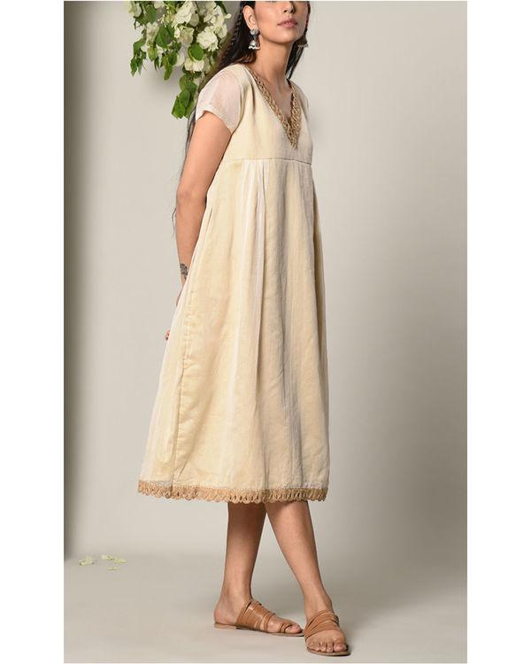 Ivory sufi jute dress 1
