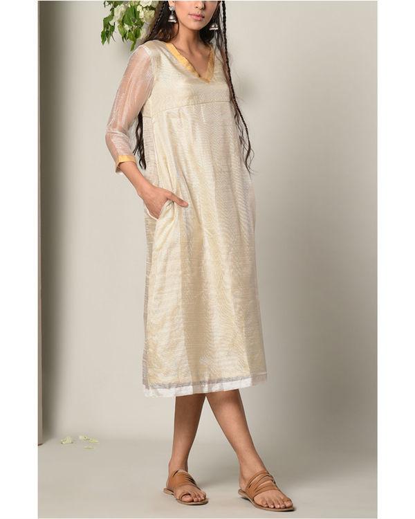 Ivory kota silk dress 1