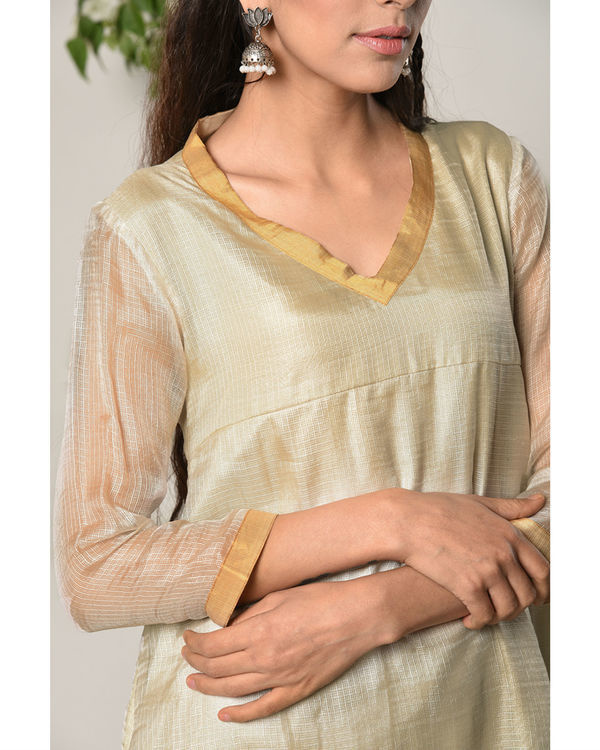 Ivory kota silk dress 2
