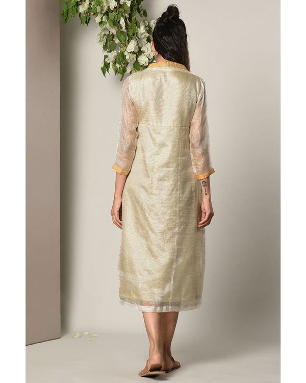 Ivory kota silk dress 3