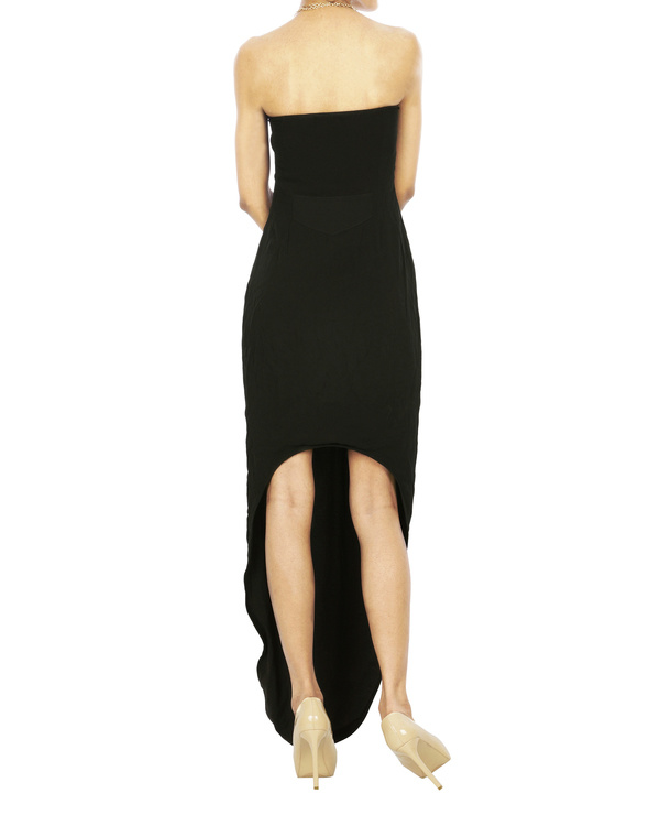 Black Parabolic hem tube dress 1