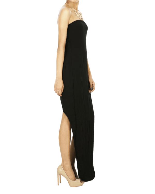 Black Parabolic hem tube dress 2