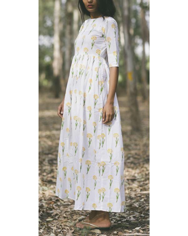 Marigold floral twirl dress 1