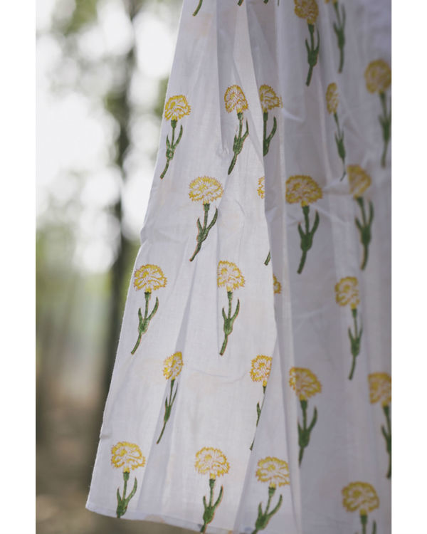 Marigold floral twirl dress 2