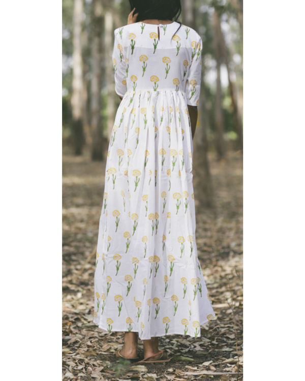 Marigold floral twirl dress 3