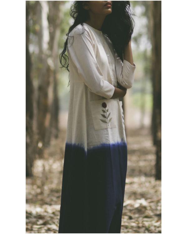 Navy mogra pocket dress 1