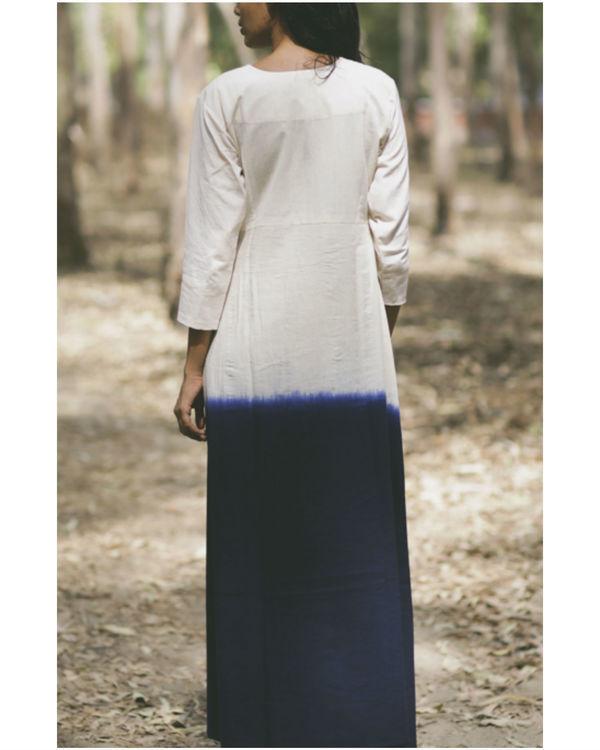 Navy mogra pocket dress 3