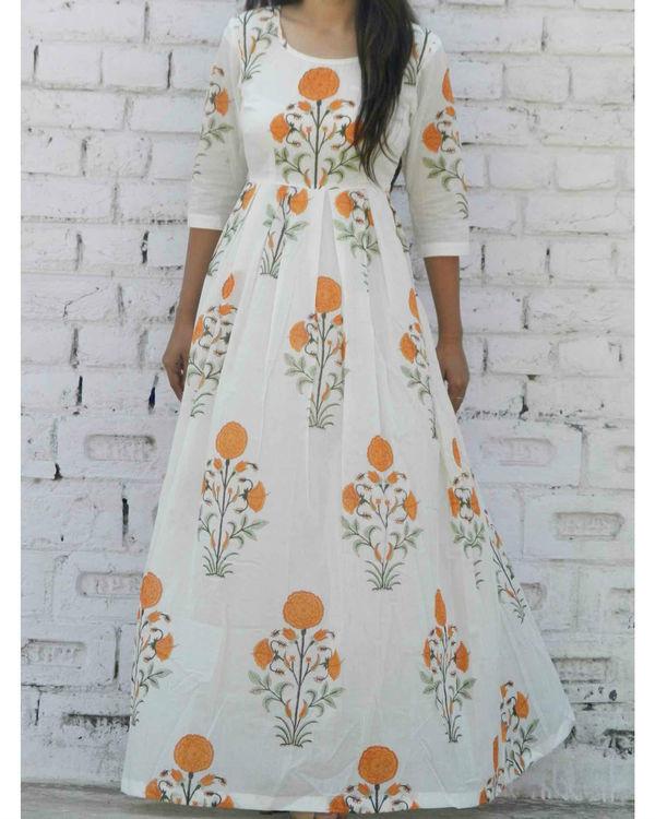 Tangerine floral maxi 1