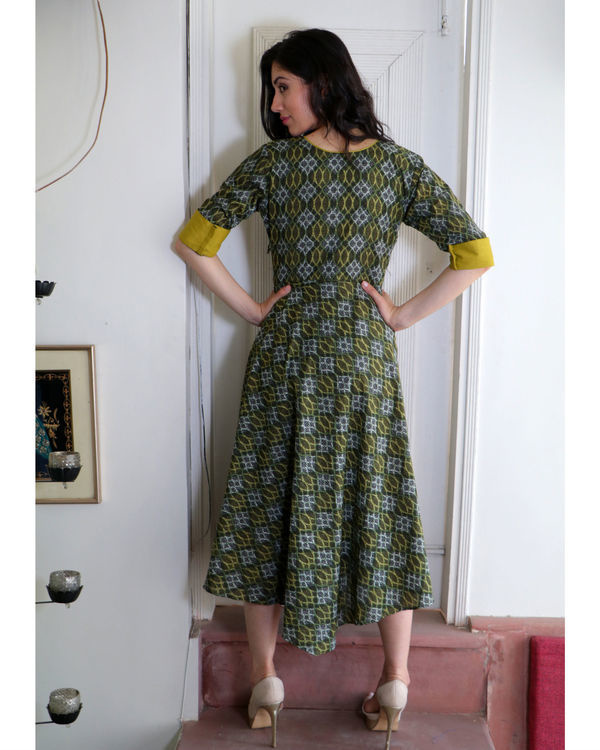 Seaweed green angrakha dress 2