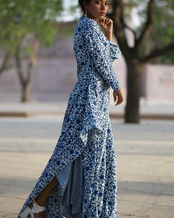 Rayon asymmetrical dress 1