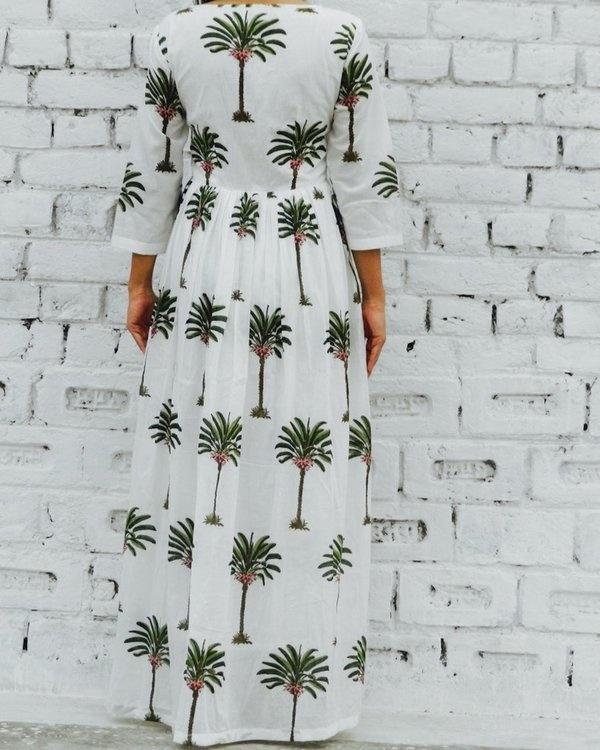 Palm print maxi 1