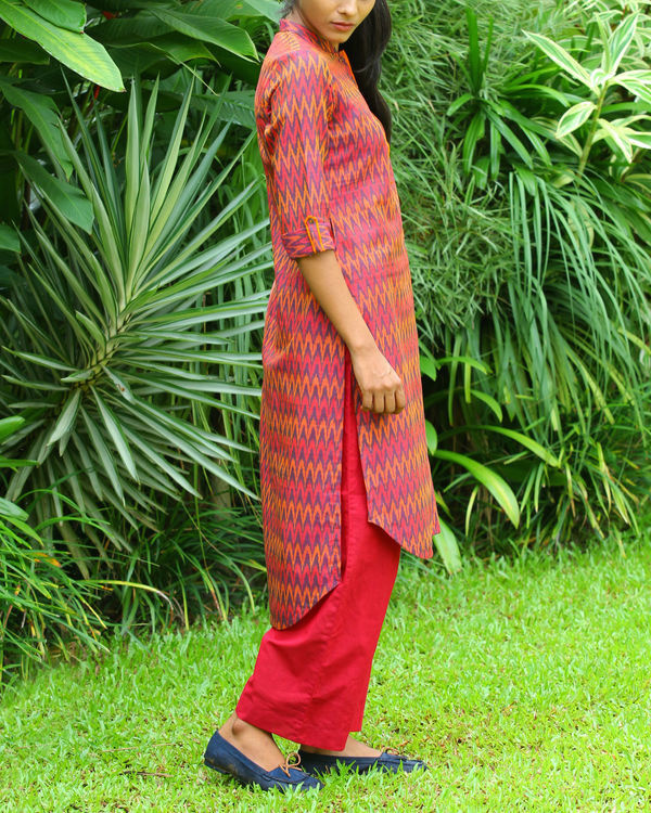 Red ikat tunic 1