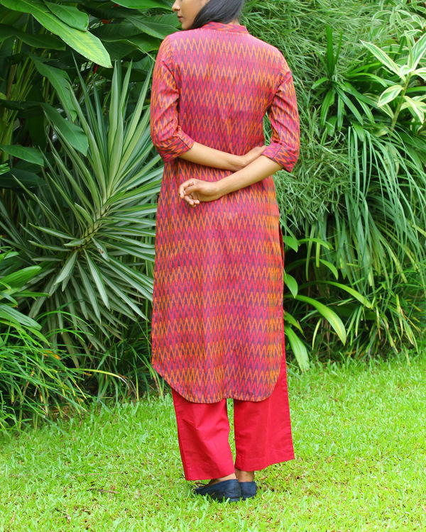 Red ikat tunic 2