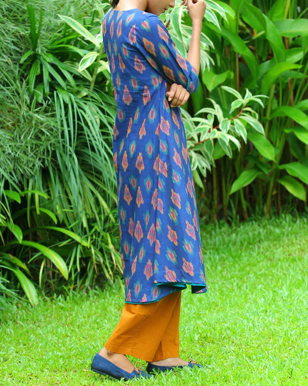 Royal blue ikat tunic 1