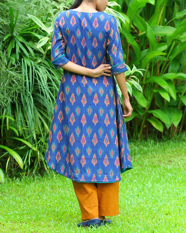 Royal blue ikat tunic 2