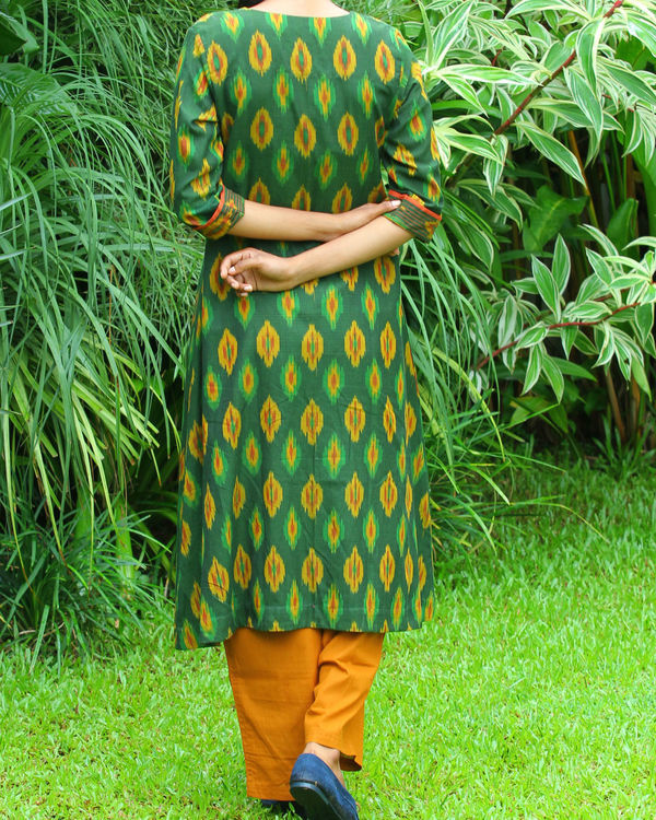Green ikat tunic 1