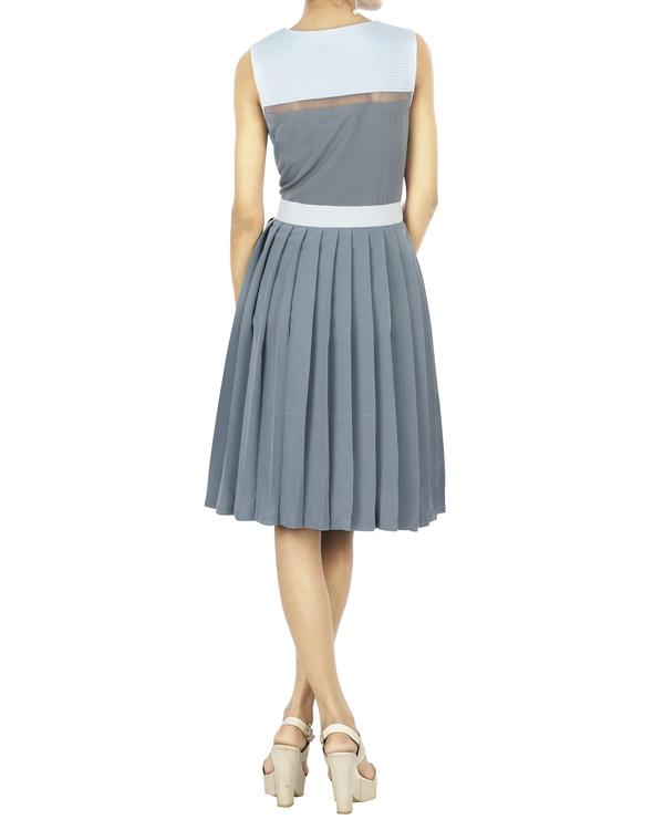 Cool grey pleated dress 1