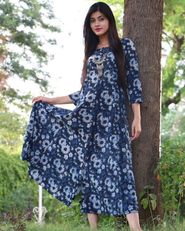 Indigo button down maxi 1