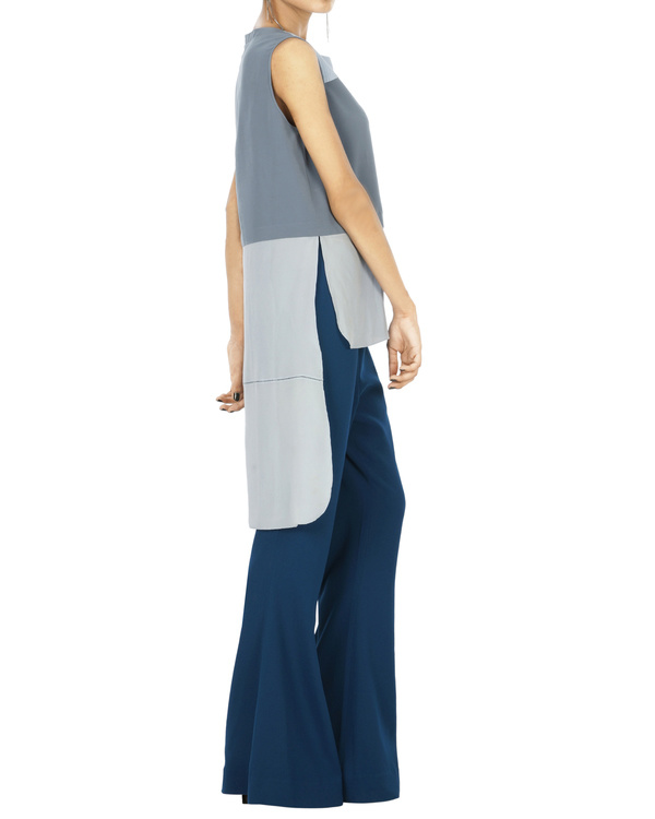 Celestial blue flared trousers 1