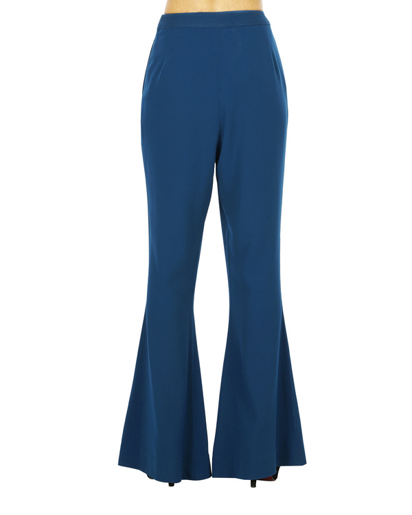 Celestial blue flared trousers 2