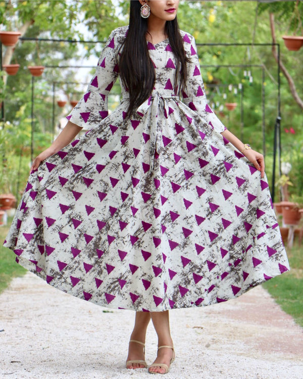 Pink triangle flared maxi 1