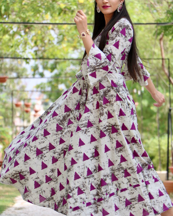 Pink triangle flared maxi 2