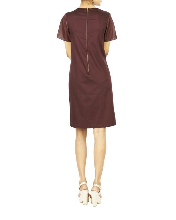 Burgundy shirt dress 1