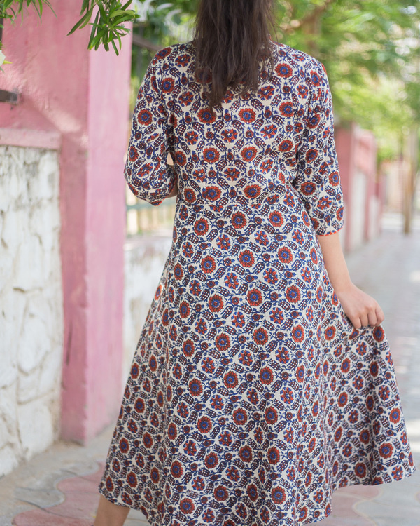 Multi ajrakh dress 1