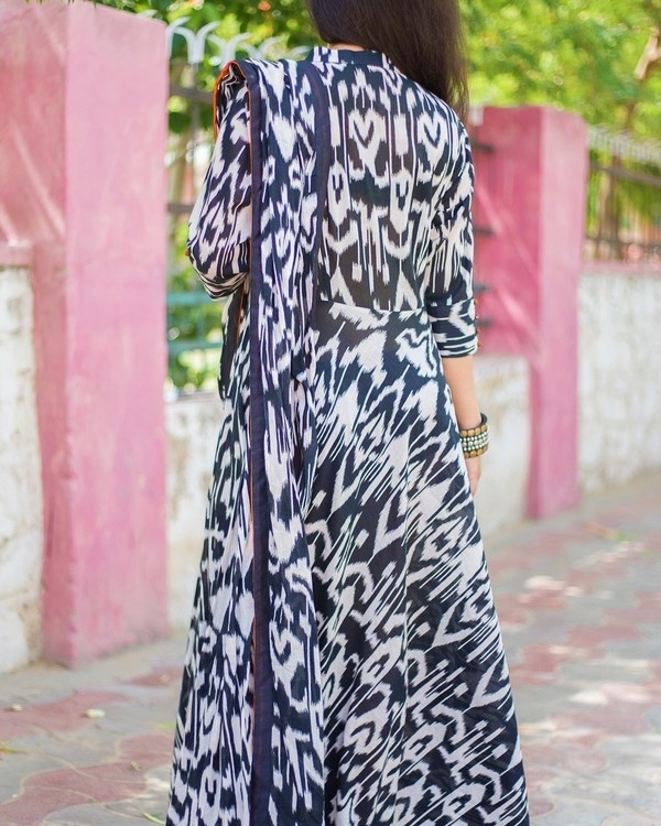 Monochrome drape dress 1