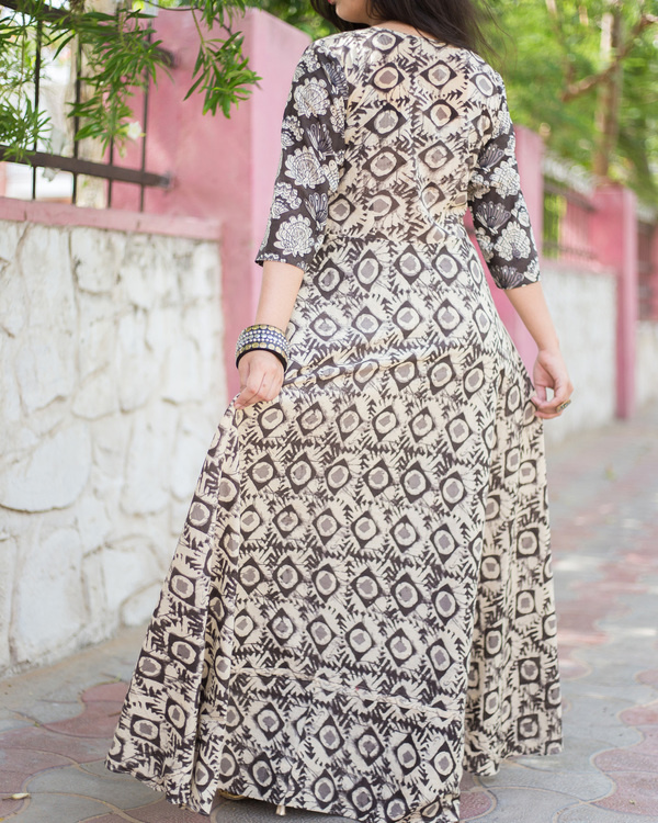 Kalamkari asymmetric set 1