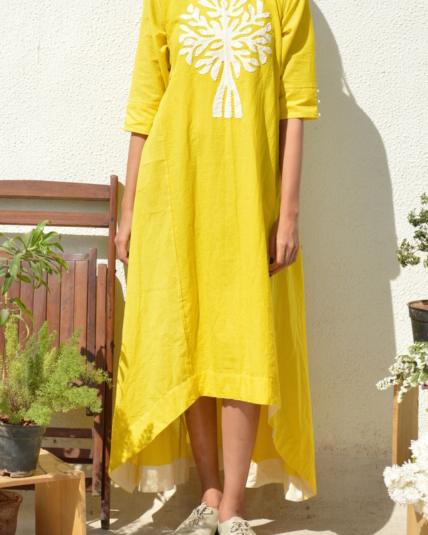 Yellow tree of life tunic 1