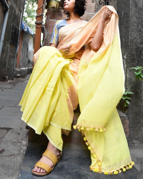 Yellow mellow sari 1
