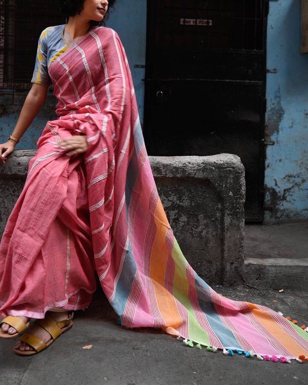 Rainbow sari 1