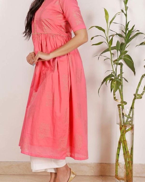 Rose blush kurta set 1