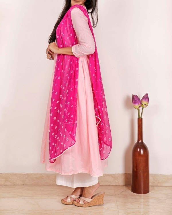 Lemonade pink lilac kurta set with Dupatta 2
