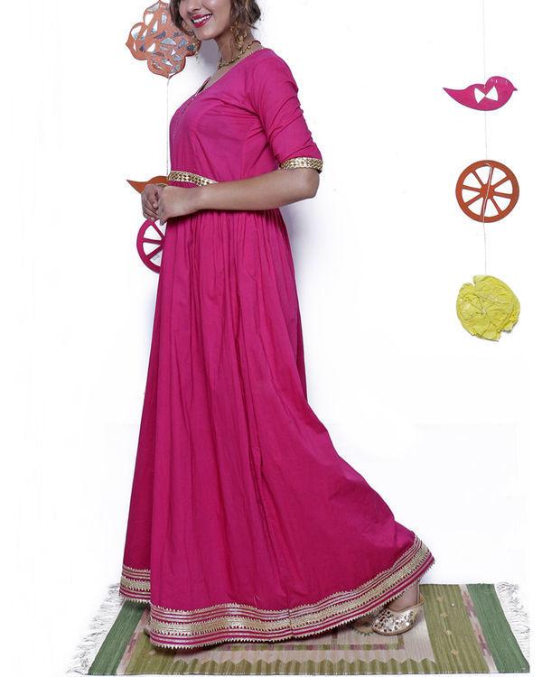 Pink and gold gota dress 3