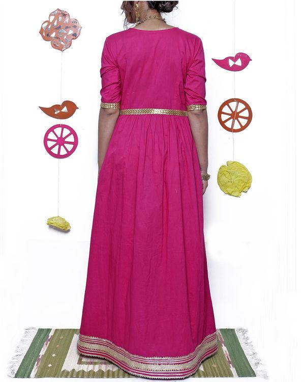 Pink and gold gota dress 2
