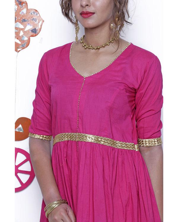 Pink and gold gota dress 1