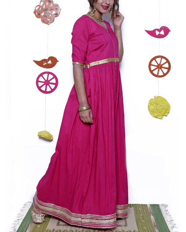 Pink and gold gota dress 4