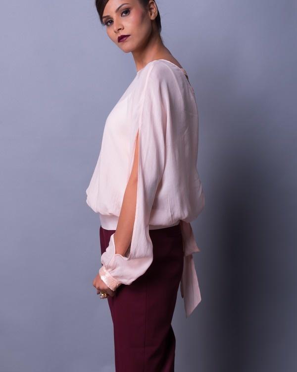 Soft shell back knot blouse 1