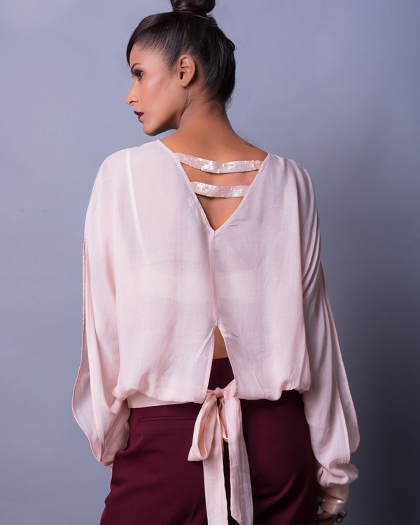 Soft shell back knot blouse 2