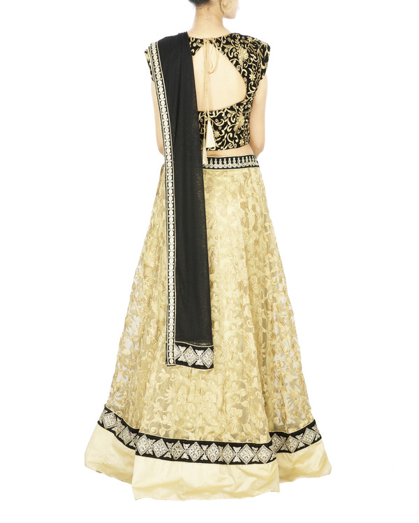 Black and golden lehenga set 1
