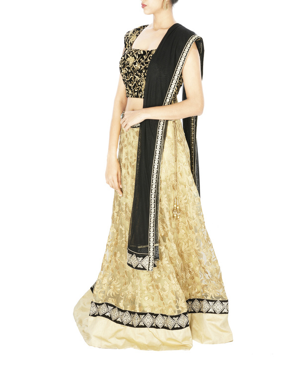 Black and golden lehenga set 2